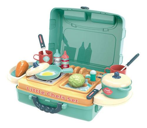 Cozinha De Brinquedo Completa Infantil Kit Maleta Chef Toys