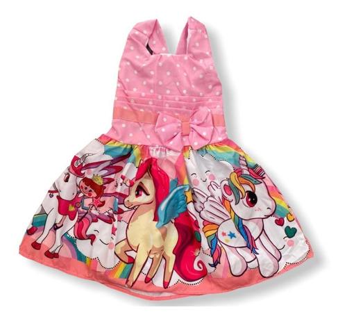 Vestido De Festa Infantil Temático Unicórnio