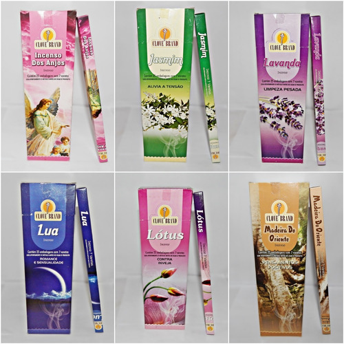 Incenso Clove Brand Com Até 5 Aromas Sortidos Por Caixa