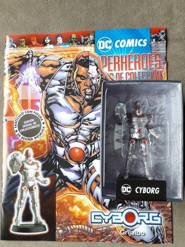 Figura De Colección Dc Superhéroes Cyborg