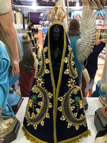 Nossa Senhora Aparecida 70cm - Resina Manto E Coroa Folheada
