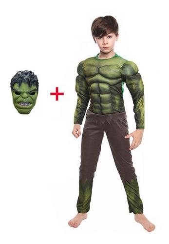 Fantasia Heróis Infantil Músculos Com Enchimento Dc E Marvel