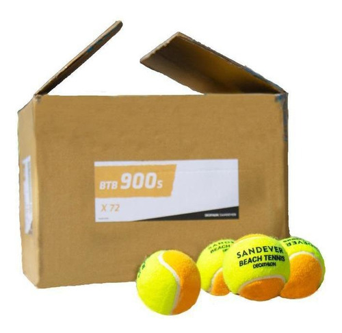 Caixa De Bola De Beach Tennis (c/ 72 Unidades) Btb 900