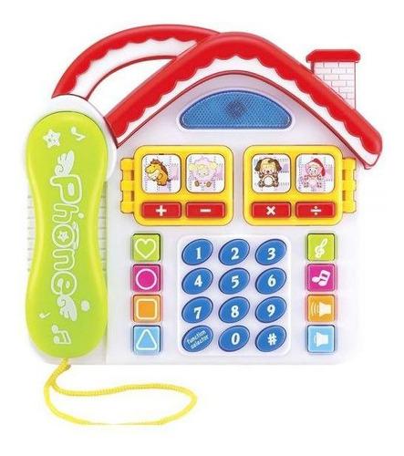 Brinquedo Educativo Musical Didático Telefone Diverto Somluz