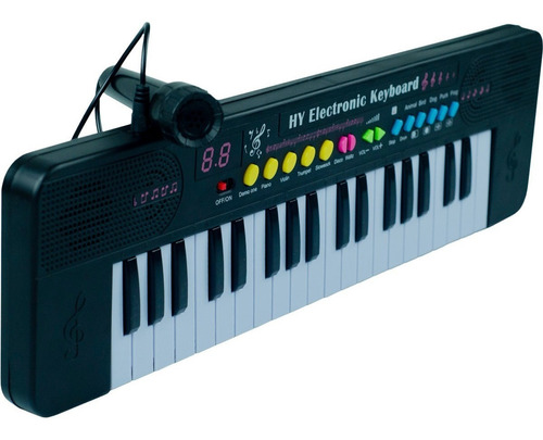 Teclado Musical Infantil 37 Teclas Iniciante C/ Microfone