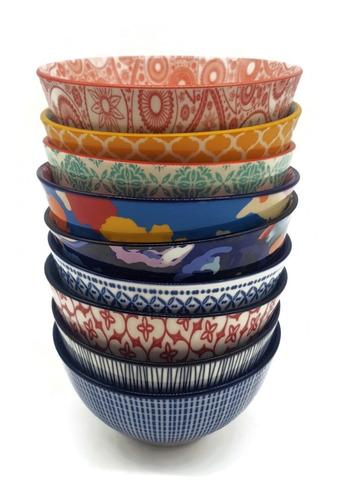 Pack  X 6u Cuencos Bowls Ceramica Decorados Copetineros