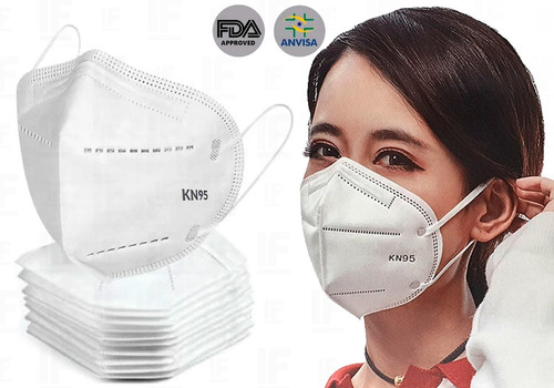 Kit 20 Máscaras Kn95 Proteção Respiratória Pff2 N95
