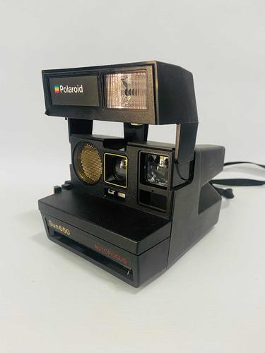 Câmera Fotográfica Antiga Polaroid Sun 660