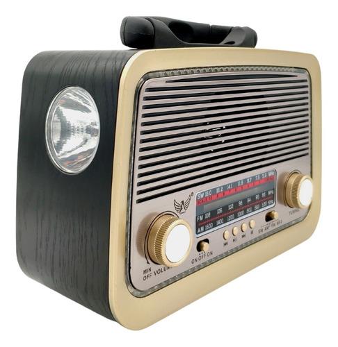 Rádio Retrô Vintage Am Fm Sw Usb Pen Drive Aux P2 Bluetooth