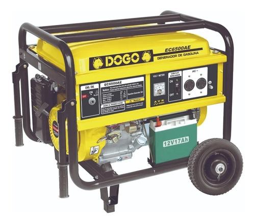 Generador Portátil Dogo Ec6500ae Monofásico Con Tecnología Avr 220v