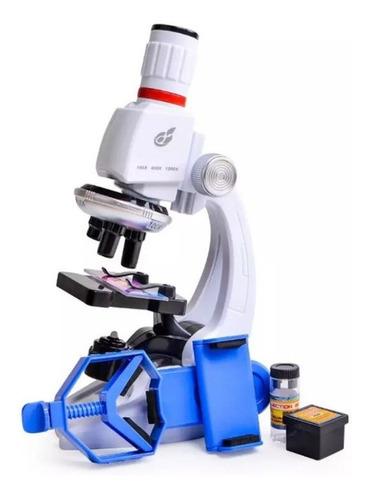 Microscópio Infantil 1200x Brinquedo Educativo Suporte Cel