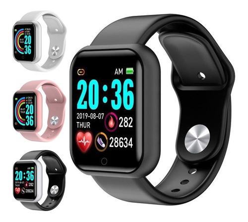Smartwatch Y68 D20 Relógio Inteligente Fitness Foto Na Tela