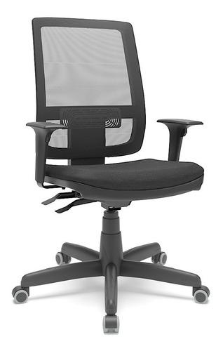Cadeira Brizza Presidente Tela Braço 3d