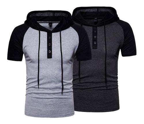 Kit 2 Camiseta Polo Masculina Camisa Capuz Diverse Estilos