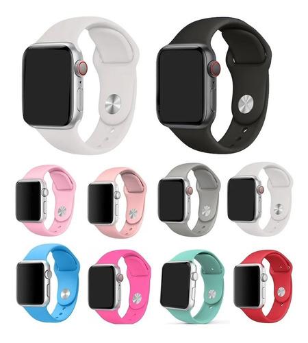 Pulseira Silicone Sport Cores Para Apple Watch 1 2 3 4