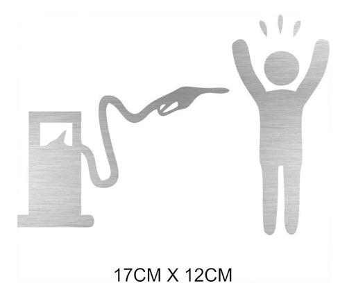 2 Adesivos Carro Bomba De Combustível Gasolina Assaltando