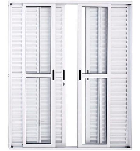Porta Balcão 6..fls De  Alum 2.10 X 1.50 Branca L-25 C/f