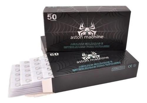 Agulhas Aston Machine Tattoo Tatuagem Traço E Pintura 50un