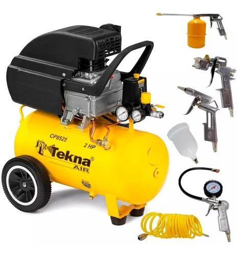 Compressor Ar Motocompressor Cp8525 24 Lts 2 Hp Tekna Kit