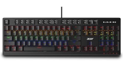 Teclado Gamer Acer Okb950 Rgb Switchs Azules Bgui