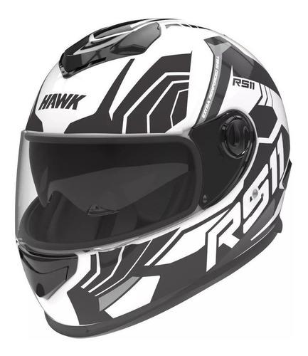 Casco Para Moto Integral Hawk Rs11 Revo Blanco Mate Talle S