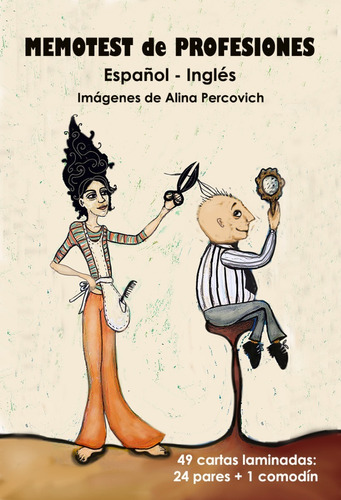 Memotest De Profesiones (español-inglés) Imágenes De Artista