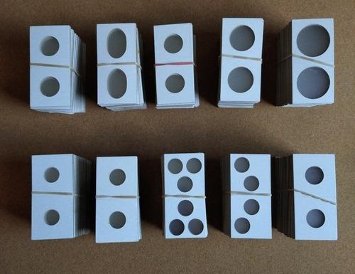 30 Cartones 2x2 Cowens Ventanas 18a38mm, Mylard Mas Surtido