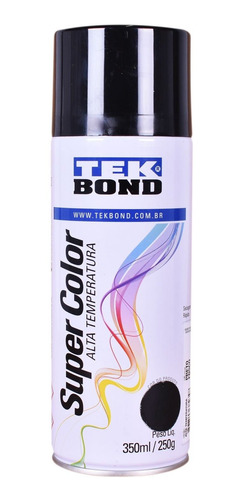 Tinta Spray Preto Fosco 350ml Tekbond