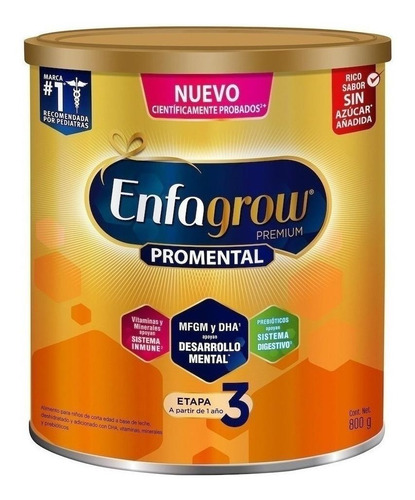 Fórmula Infantil En Polvo Mead Johnson Enfagrow Premium 3 Natural  En Lata 800g Por 2 U