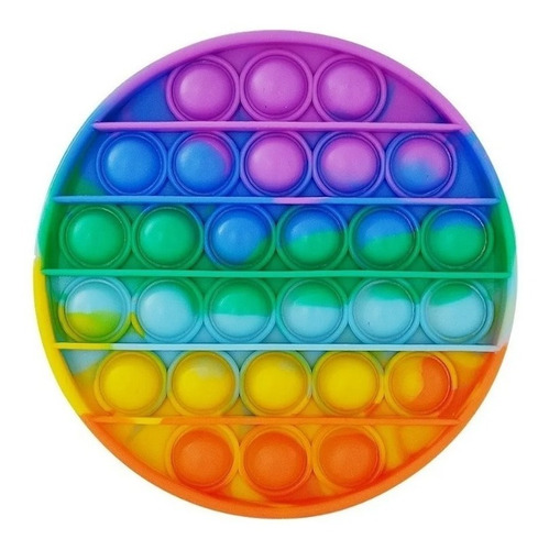 Pop It Fidget Rainbow Bolha Brinquedo Anti Stress Ansiedade