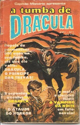 A Tumba De Drácula Nº 1 - Ano 1976 - Ed. Bloch - Antiga