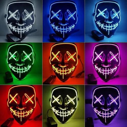 Mascara Led Festa Neon Filme Uma Noite De Crime Fio Duplo