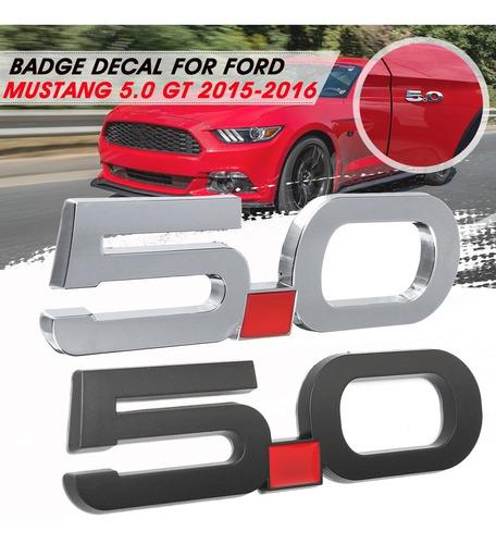 Emblema 3d 5.0 Para Guardabarros De Ford Mustang 5.0 Gt 2015