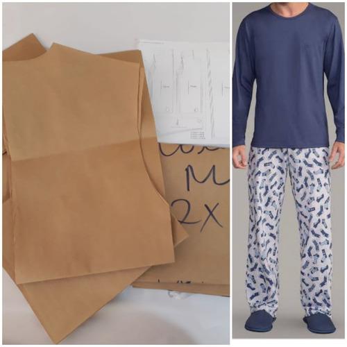 Moldes De Pijama Adulto Masculino/lançamento/papel Kraft