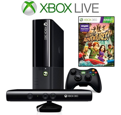 Xbox 360 Super Slim 4gb Original + Kinect + Jogo + Live