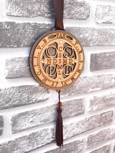 Mandala Adorno Porta Parede São Bento Medalha Cruz Sagrada