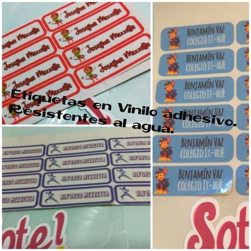 Etiquetas Personalizadas Para Plásticos, Vidrio,cerámica Etc