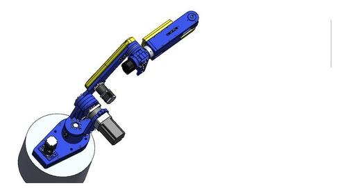 Projeto 3d De Braço Robótico De Baixo Custo