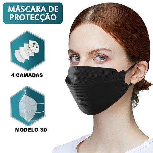 Kit 10 Máscaras Kn95 Proteção Respiratória Pff2/kf94 -  Full