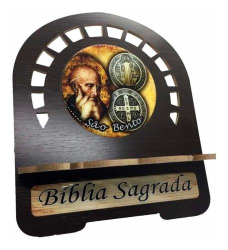 Suporte Para Bíblia Pequeno C/imagem Foto Madeira Resistente