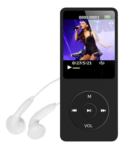 Mp3 Mp4 Player Portátil Leitor Audio Suporta 64gb Fm + Fone