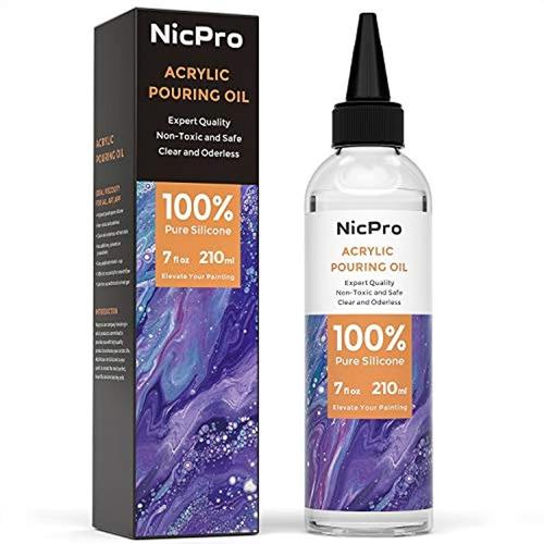 Aceite Acrílico Para El Arte, Verter Medio 7 Oz100% Silicona