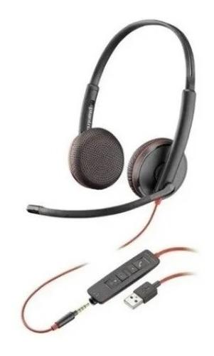 Headset Estério Blackwire C3225 Usb Plantronics Poly