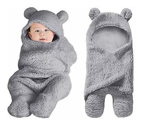 Manta Cobertor En Sleeping Para Bebe Recien Nacido Gris