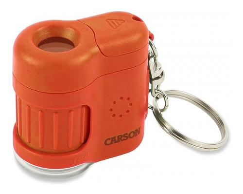 Microscópio Chaveiro C/luz Led E Uv/zoom 20x laranja carson
