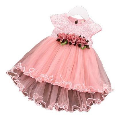 Vestido De Festa Infantil Luxo  Batizado/aniversário