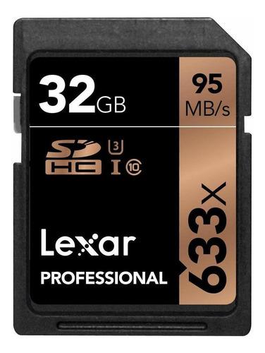 Tarjeta De Memoria Lexar Lsd32gcb1-633  Professional 633x Con Adaptador Sd 32gb
