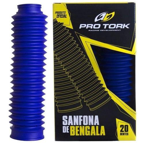 Sanfona De Bengala Xtz 125 Nxrt 125/150 Pro Tork Azul