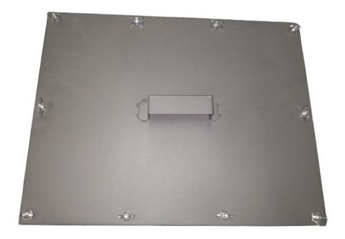 Porta De Inspeção Chapa Preta Para Limpeza Do Duto 600x300mm