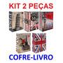 Kit 2 Cofre Grande Camuflado Forma De Livro 2 Chave